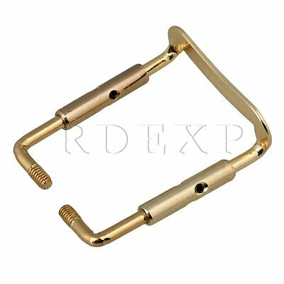 Gold Violin Fiddle Chinrest Clamp Vintage Parts 1/2 1/4
