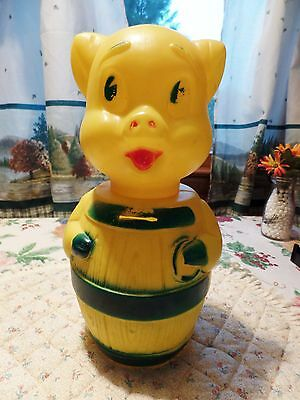 Vintage Disney's Porky Pig Blow Mold Coin Bank Toy