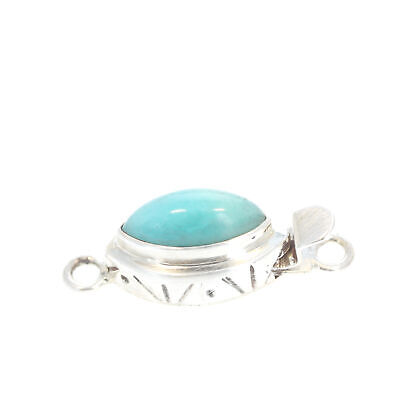 AMAZONITE CLASP MARQUIS Shape Sterling