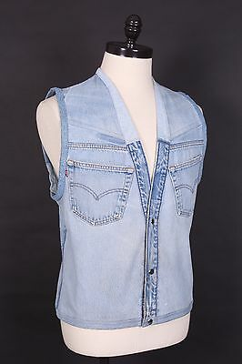 Vtg Levis 501 Custom Denim Jean Vest Usa Mens Size Medium