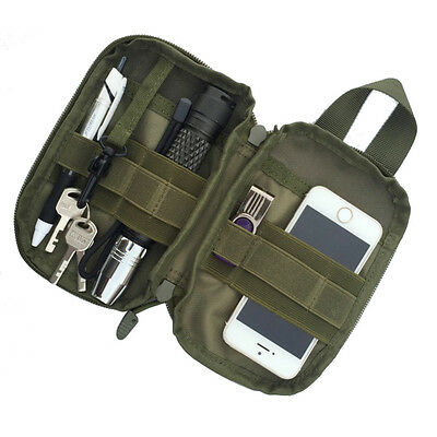 Outdoor Waterproof Tactical Military EDC Pouch Waist Pack Bag for Phone Keys
