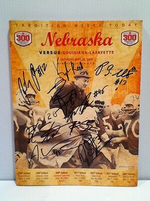 Autographed 300 Game Day Program by Eric Martin, Baker Steinkuhler & many more