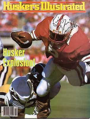 "Autographed Huskers Illustrated by Keith ""End Zone"" Jones Nebraska Cornhuskers"