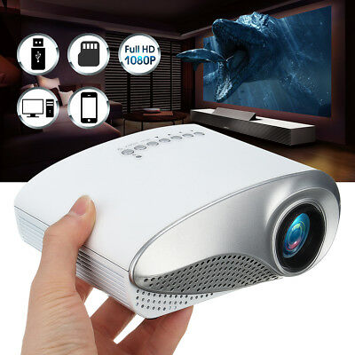 3D Portable 1080P HD Mini Projector Multimedia Home Theater USB VGA HDMI AV SD