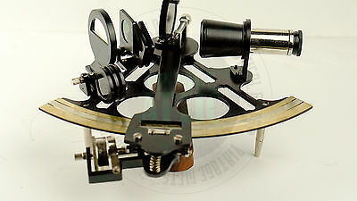 "New Vintage Solid Brass Nautical Sextant , Black 9"" Sextant  Free Shipping"