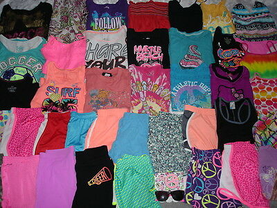 HUGE 40 Pc Lot GIRLS ~  Spring/Summer CLOTHES ~ Sz 10/12