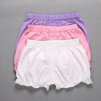 Newborn Baby Girls Kids Pants Bloomers Shorts Underwear Diaper Nappy Cover 0-12M