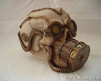 Mechanical Respirator Skull Ornament Steampunk.Free P&P. Resin Gas Mask