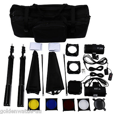 Craphy 220W*2 Studio Stroboscopique Photo flash kit lumière Stroboscope Soft Box