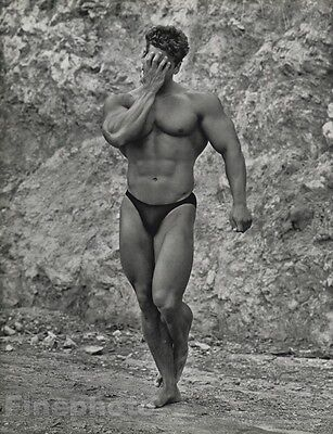 1984 MALE NUDE 16x20 BOB PARIS Bodybuilder Physique Photo Gravure Gay HERB RITTS