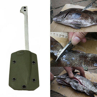 Stainless Steel Fishing Scale Flake Blade Knife Sheath Random Outdoor Picnic Kit