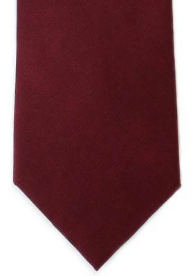 Michelsons of London Plain Twill Silk Tie - Wine