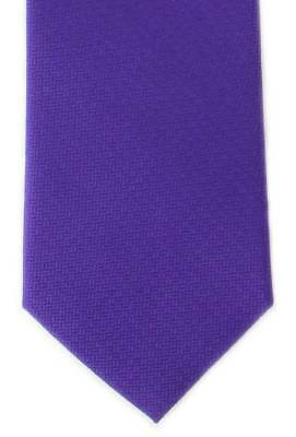 Michelsons of London Basket Weave Silk Tie - Purple