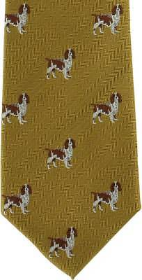 Michelsons of London Beagle Silk Tie - Gold