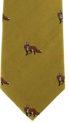 Michelsons of London Fox Silk Tie - Gold