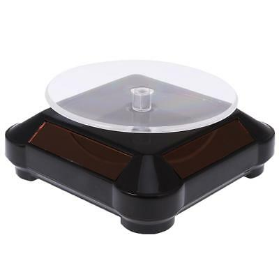 Solar Power 360 Rotary Spinning Display Stand Holder Turn Table Plate Black