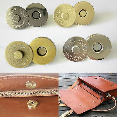 4PCS/18mm Magnetic Snaps Purse Clasp Closures Metal Button Bag Accessories DIY