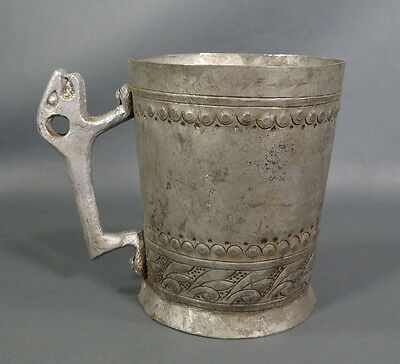 Rare Medieval Byzantine Revival Griffin Gargoyle hand-hammered Copper Cup Goblet