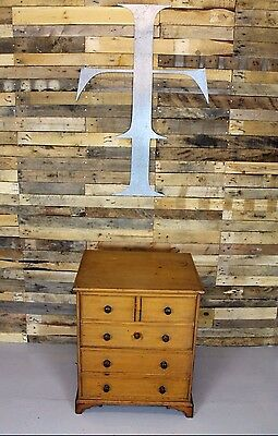 Unusual Vintage Antique Edwardian Concealed Pine Chest Of Drawers/Commode