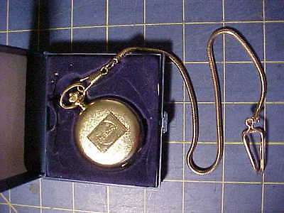 Pepsi Gold Tone Pocket Watch With Chain And Belt Hook!  Unused  Works  L@@k