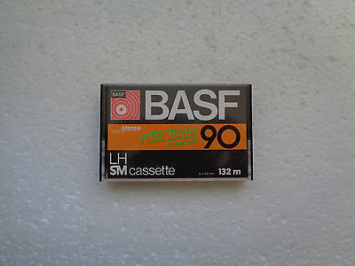 Vintage Audio Cassette BASF LH SM 90 * Rare From France 1977 * Unsealed