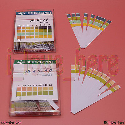 Full Range pH Testing Indicator Paper Litmus Strips Kit Universal pH 100 pcs/Box