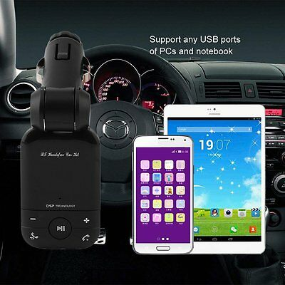 Exquisite Bluetooth Handsfree Auto Car Kit With FM Transmitter & Charger GT