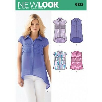 New Look Misses' Tops with Collar and Sleeve Sewing Pattern 6212