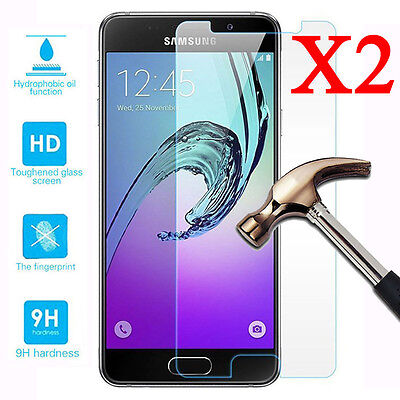 1/2X Tempered Glass Screen Protector For Samsung Galaxy A3 A5 A7 2016 / 2017 New