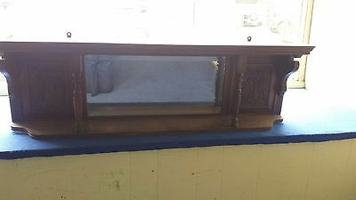 Decorative antique mirrored wall display shelf