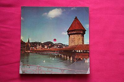 Rare Carte Postale Musical Disque 33T Swiss Hit / Lucerne