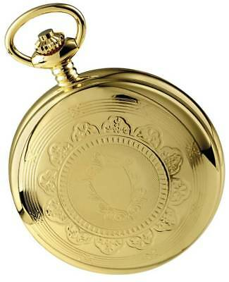 Woodford Gold Plated Twin Time Zone Double Full Hunter Skeleton Mechanical Pocke