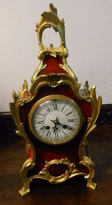 maple & co french shell and ormulu striking mantel clock c1900
