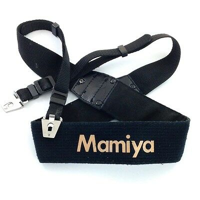 Mamiya Black & Gold Neck / Shoulder Strap for RB67 & RZ67 Camera (with lugs)#QA1