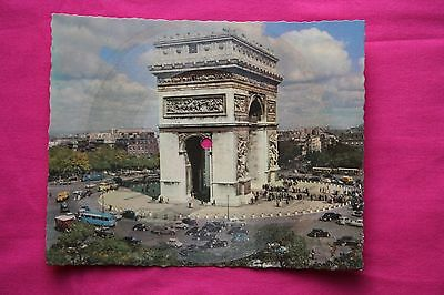 Rare Carte Postale Musical Disque 45T Phonoscope / L'arc de Triomphe