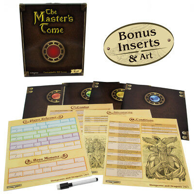 The Master's Tome Customizable Dungeon Masters Screen  - Dungeons & Dragons