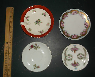 Vintage Plate Lot of 4 Various Plates ; Saucers ; Dinnerware ; China