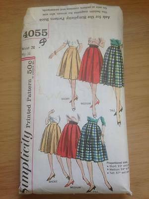 1960s Vintage Simplicity Sewing pattern 4055, full skirt