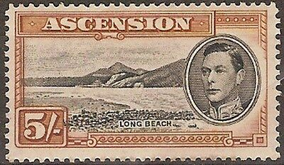 Ascension 5s black & yellow brown Unmounted MINT SG 46