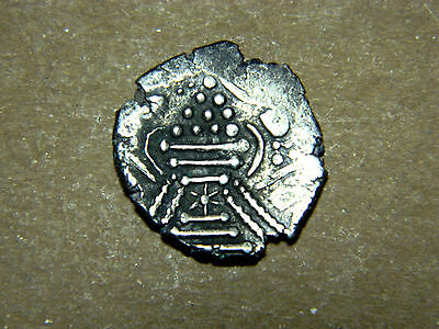 Indo Sassanian, Gadhiya, silver fire alter coin, 800-950AD. Good toning