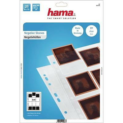 Hama Polypropylene Negative Sleeves 12 Single 6X6 Negatives Pack 25 2038
