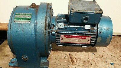 Brook Crompton Electric Motor With Renold Gearbox