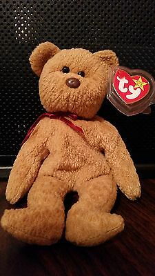 Ty Curly Beanie Baby mwmt- errors-1996 Beautiful & Rare brown nose