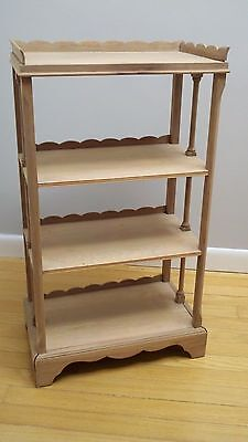 Antique Small Wooden Bookcase - Stripped for Finishing
