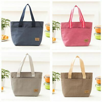 Vinsani Insulated Tote Canvas Thermal Lunch Bag - Available in 4 Colours