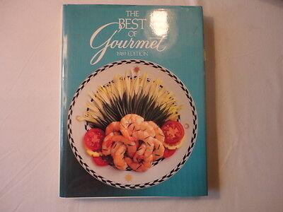 The Best of Gourmet 1989- hardcover with dust jacket cookbook recipes
