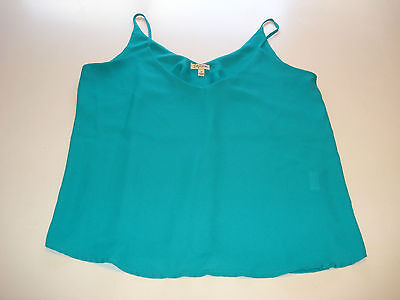 Women's size M Camisole spaghetti strap  blouse Turquoise POLY Nice Condition !