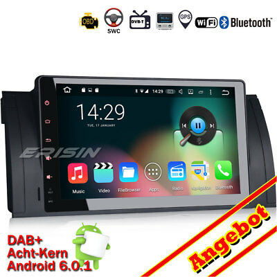 """9"""" Android 6.0.1 Wifi Autoradio GPS Wifi Canbus DTV-IN BMW 5er E39 E53 M5 6905GE"""