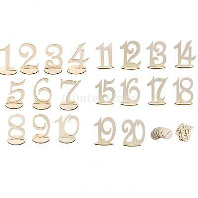 1-20 Wooden Table Number 1-20 Base Wedding Birthday Party Home Table Decor