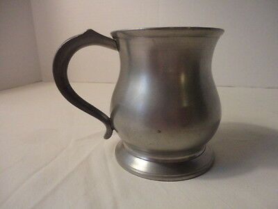 "Vintage Crown and Rose Cast Pewter 3 1/2"" Tall Tankard made in England"